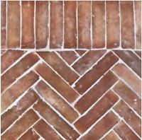 1qm Bejmat natur 20x5x2,2cm rot - Terrakotta Cotto Fliesen Riemchen Fischgrät