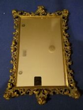 """Vintage Ornate Brass ? Copper ? Mirror Tray French Style 20x13"""""""