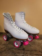 Pre-Owned Chicago 400 Women's Classic Roller Skates – White/Pink Skates - Size 9