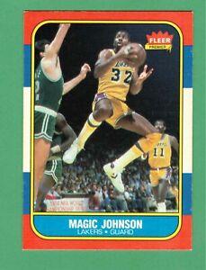1986-87 FLEER PREMIER BASKETBALL MAGIC JOHNSON #53 LAKERS