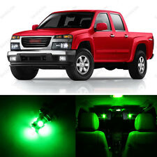 11 x Green LED Interior Light Package For 2004 - 2012 GMC Canyon + PRY TOOL
