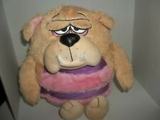 "2010 jay at play kookoo kennel luv my pup tan bulldog dog plush 17"" tall"