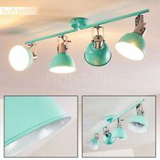 Plafonnier Retro Lampe à suspension 4 branches Métal Lampe de salon Lustre vert