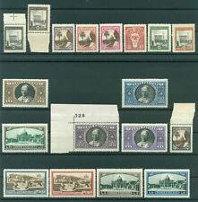 Vatican 1933 - Y & T. n. 44/59 + n. 3/4 exprès - Série courante