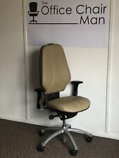 RH 400 High Back Sand Leather Orthopaedic Executive Operator Chair  3 Button
