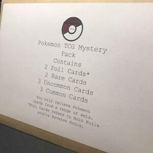 Pokemon TCG Mystery Pack (10 Cards Total)