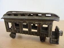 """Antique cast iron train passenger car toy 5.5"""" Hubley?"""