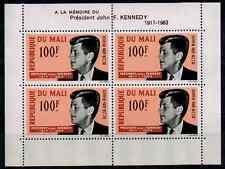 TIMBRES MALI  ' PRÉSIDENT JOHN . F . KENNEDY 1964 ' BLOC n°3 NEUF**