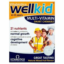 pack of 4 X Vitabiotics Wellkid Smart Chewable 30 Tablets Multi Vitamin Age 4-12