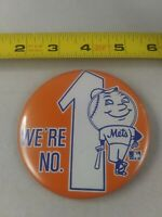 Vintage New York Mets WE'RE #1 Mascot Baseball pin pinback button *QQ2