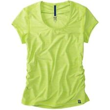"""Title NIne Women's Sz Large Lime Green """"Live Wire""""Short Sleeve Ruched Top Tee"""