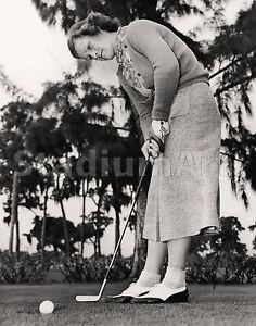 "Babe Didrikson Zaharias Golfer Golf Photo 11""x14"" Print Putting"