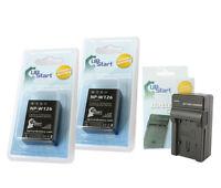 2X Battery+Charger FUJI Fujifilm NP-W126 BC-W126 FinePix HS30 HS33EXR X-PRO1