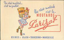 DIJON TOURCOING MARSEILLE MOUTARDE PARIZOT POULBOT BUVARD BLOTTING PAPER