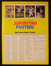 1981 Reggie Jackson~Larry Bird Baseball~Basketball~SI~Sports Posters Trade AD