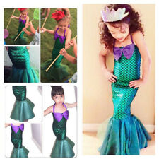 Girls Dress The Little Mermaid Tail Princess Ariel Costume Summer Fancy Cosplay