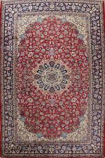 Vintage Floral Ardakan Hand-Knotted Wool Area Rug Large Oriental Carpet 10'x14'