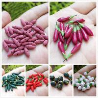 1:12 Doll house Miniature Kitchen Food Vegetable Clay Mini Model Pepper Eggplant