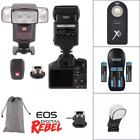 Professional Flash 24G Accessory Kit for Canon EOS Rebel T5 T5I T6 T6I T7 80D