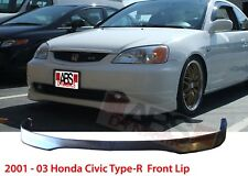 Type R Style Front Lip for 2001 -03 Honda Civic 2/4dr Unpainted Polyproplyene