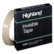 Highland Invisible Permanent Mending Tape 34 X 2592 3 Core 021200074462