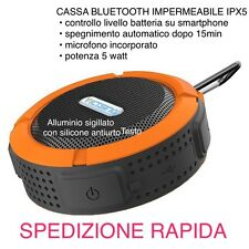 CASSA BLUETOOTH IMPERMEABILE VENTOSA DOCCIA VICTSING C6 IPX5 UNIVERSALE Microfon