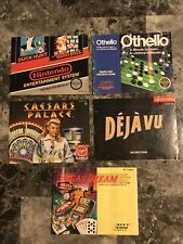 Nes Super Mario,Caesars Palace,Deja Vu,Vegas Dream,Othello Nintendo Manual Lot