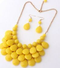 Yellow Bead Necklace and Earring set