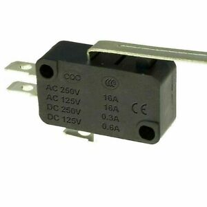 Microswitch V3 SPDT 16A Long Lever Actuators Micro Switch Black UK