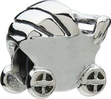 AUTHENTIC CHAMILIA 925 STERLING SILVER BABY CARRIAGE GA-61 CHARM BEAD STROLLER