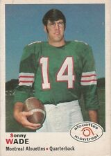 1970 OPC CFL SONNY WADE MONTREAL ALOUETTES #99 (EMORY & HENRY WASPS) EX