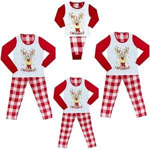 Mens Ladies Boys Girls Christmas Pyjamas Xmas Family Matching Pyjamas