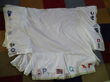 Pottery Barn Kids A to Z Alphabet Abc {Dust Ruffle Skirt} Crib/Toddler bed