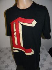CROOKS & CASTLES black t shirt ORIGINAL TROUBLE MAKER CREW men's large