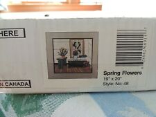 """Woodscapes Of America Spring Flowers #48 - 19"""" x 20"""" Wood Art Kit New Opened Box"""