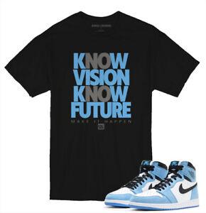 Tee shirt to match Air Jordan 1 University Blue Sneakers knc Vision
