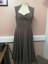 Bohemia Beige 50s style A-line Dress BNWT, size L, 12-14