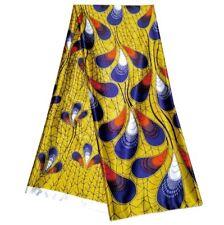 Yemi African Soft Satin Silk Print Ankara Fabric High Quality Per yard 36x60inch