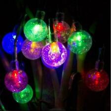 50 LED Solar Powered Garden Party Fairy String Crystal Ball Lights Outdoor X'mas