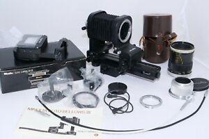 Minolta 50mm f3.5 Macro Rokkor QF M39 Lens with Minolta Auto Bellows III Outfit