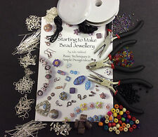 Large Jewellery Making Kit inc Tools, Book, Findings, Beads and FREE Items
