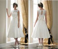 New Lace Short Wedding Dress Bridal Gown Evening Dress Size 6 8 10 12 14 16
