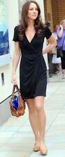 NWT Eliza J Royal Collection Short Sleeve Wrap Dress in Royal Cobalt Blue