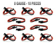 """10 Pieces 8 Gauge 12"""" Quick Disconnect Polarized Inline Power Cable Wire Harness"""