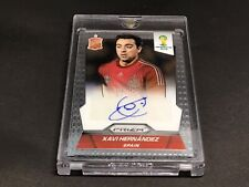 Xavi Hernandez Signed 2014 Panini Prizm Card #S-XA Auto Panini Authenticated