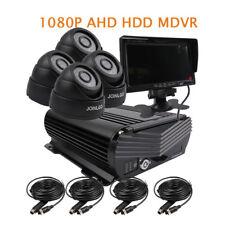 """DIY 4CH 1080P 2.MP 2TB HDD Hard Disk Car DVR MDVR Video Record IR Camera 7"""" LCD"""