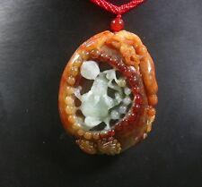 Certified 100% Natural A Jade jadeite pendant Dragon Pi Xiu Frog Toad 376077