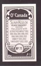 2003-04 TOPPS C55 MINI O'CANADA BLACK BACK # 71 SLAVA KOZLOV !!
