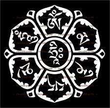 Om Mani Padme Hum - Mantra -Religious Symbol- Vinyl Die-Cut Peel N' Stick Decal
