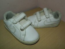 kids Nike Court Royale white leather hook&loop shoes trainers uk 6.5 eur 23.5